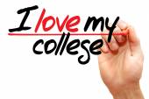 I love my college — Stok fotoğraf