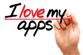 I love my apps — Fotografia Stock