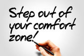 Step out of your comfort zone! — Stock Photo