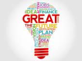 GREAT bulb — Stock Vector