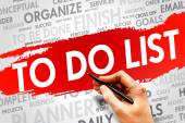 TO DO LIST — Stock Photo