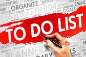 Te doen lijst — Stockfoto