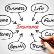 Insurance diagram — Stock Photo #67731131