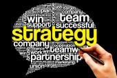Strategy Think Bubble — Stock Photo