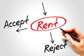 Accept or Reject Rent — Stockfoto