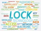 LOCK word cloud — Stock Vector