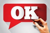 OK message bubble — Stock Photo