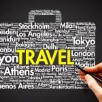 Suitcase TRAVEL — Stock Photo #68180401