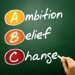 Ambition Belief Change — Stock Photo #68480607