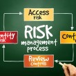 Risk management process — Stock Photo #68574081