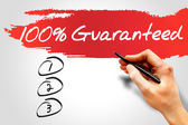 100 Percent Guaranteed — Stock Photo