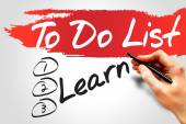 Learn in To Do List — Stock Photo