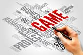 GAME word cloud — Stock fotografie