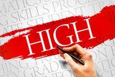 HIGH word cloud — Stock Photo