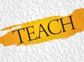 TEACH — Stock Vector