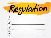 Regulation — Stock Vector