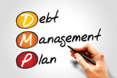Debt Management Plan — Stock Photo