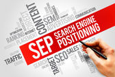 Search engine positioning — Stock Photo