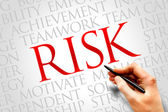 Risk word cloud — Stock Photo