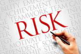 Risico word cloud — Stockfoto