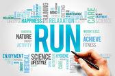RUN word cloud — Stock Photo