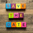 Date. Save The Date card isolated on white background — Stock Photo #70494821