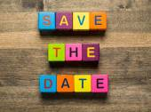 Date. Save The Date card isolated on white background — Stock Photo