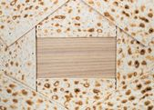 Pesach. Matzot for passover celebration with copy space — Stock Photo