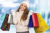 Christmas, Shopping, Women. — Stock Photo