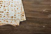 Seder, pesah, matzah. — Stock Photo
