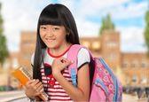 Teenage Girls, Elementary Student, Teenager. — Stock Photo