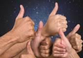 Thumbs Up, Human Thumb, Human Hand. — Stock Photo