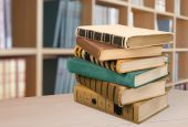 Book, stack, old. — Stock Photo
