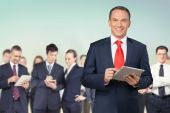Business, Businessman, Digital Tablet. — Stock Photo