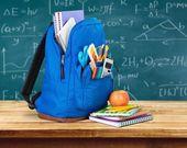 School, bag, rucksack. — Stock Photo