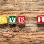Love, grain, letterpress. — Stock Photo #73208169
