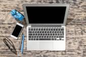 Estudiar, literatura, laptop. — Foto de Stock