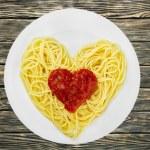 Spaghetti, Pasta, Heart Shape. — Stock Photo #73941051