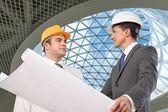 Construction, Architect, Construction Site. — Stock Photo