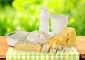 Dairy Product, Milk, Cheese. — Stock Photo