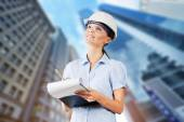 Engineer, Women, Asian Ethnicity. — Stock Photo
