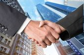 Business, Handshake, Built Structure. — Stock Photo
