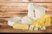 Dairy Product, Milk, Cheese. — Stock Photo