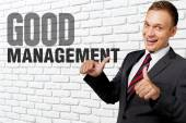 Management, Men, Business. — Stock Photo