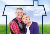 Senior Adult, Couple, Family. — Stock Photo