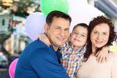 Family, Latin American and Hispanic Ethnicity, Cheerful. — Stock Photo