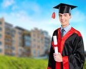 Graduation, Latin American and Hispanic Ethnicity, Student. — Stock Photo