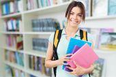 Mochila escolar, estudiante, estudiar. — Foto de Stock
