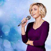 Singing, Singer, Teenager. — Stock Photo