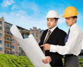 Construction, Built Structure, Blueprint. — Stock Photo